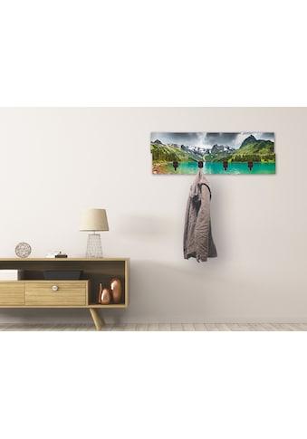 Artland Garderobenpaneel »Bergsee«, platzsparende Wandgarderobe aus Holz mit 4 Haken,... kaufen