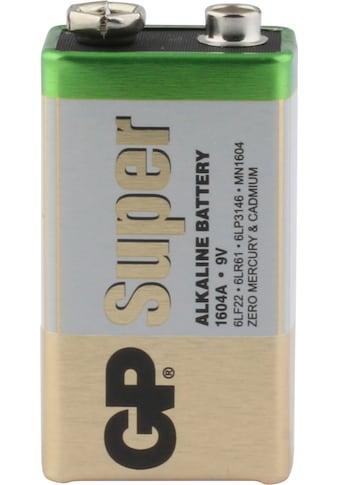 GP Batteries Batterie »Super Alkaline 9V«, 9 V, (Set, 8 St.) kaufen