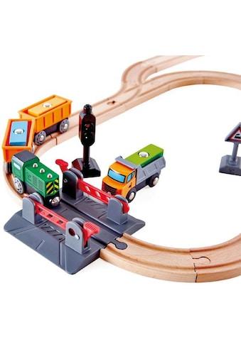 Hape Gleise-Set »Bahnübergang & Kran-Set«, aus Holz kaufen