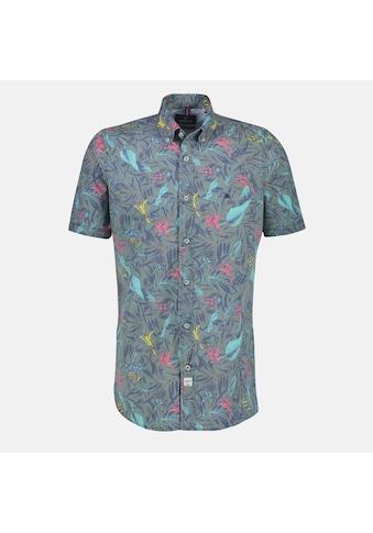 LERROS Kurzarmhemd, mit floralem Muster und Button-Down-Kragen kaufen