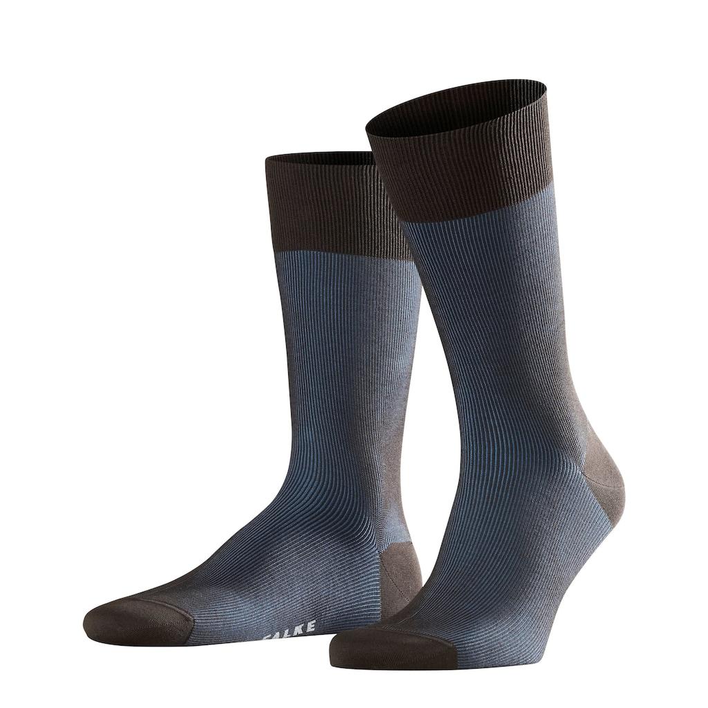FALKE Socken »Fine Shadow«, (1 Paar), mit feiner Rippstruktur