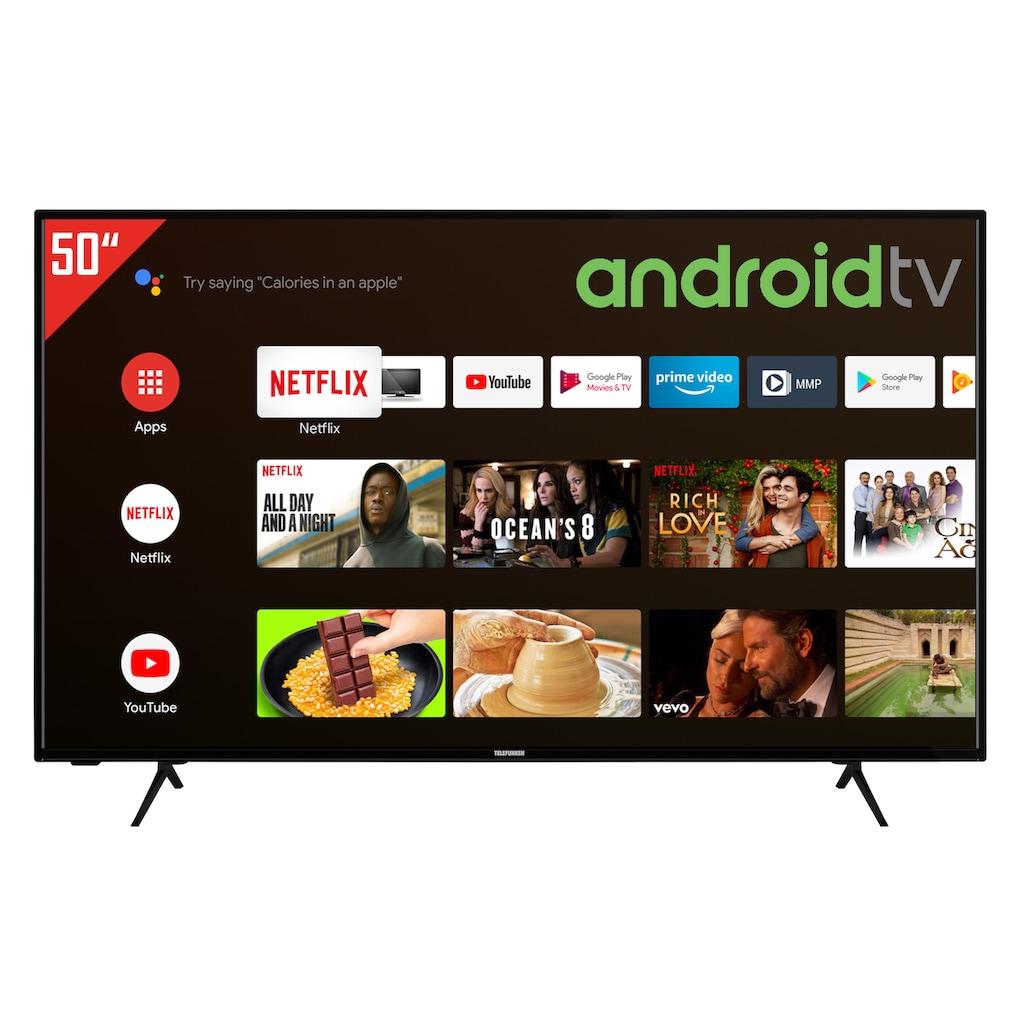 "Telefunken LED-Fernseher »XU50AJ600«, 126 cm/50 "", 4K Ultra HD, Google TV-Android TV"