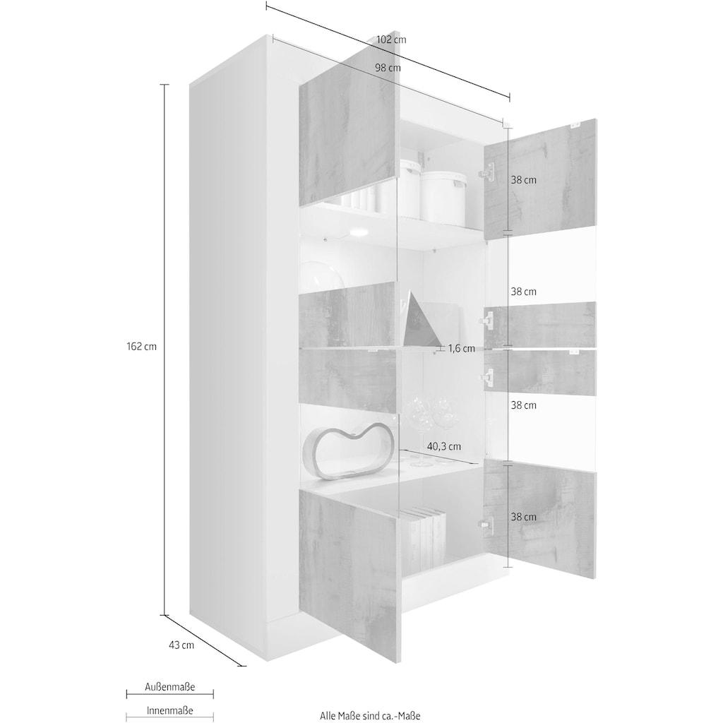 LC Stauraumvitrine »Basic«, Höhe 162 cm