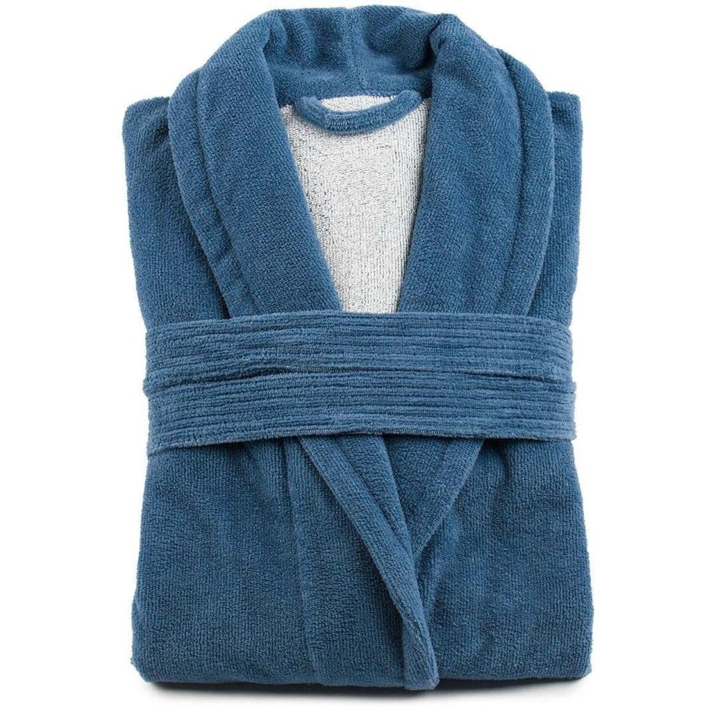 Gözze Unisex-Bademantel »Turin«, mit Gürtel und zwei aufgesetzen Taschen