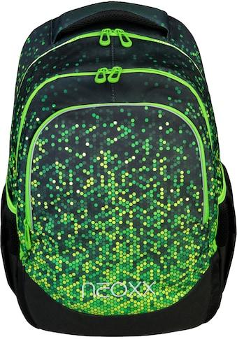 neoxx Schulrucksack »Fly, Pixel in my mind«, Reflektionsnaht, aus recycelten PET-Flaschen kaufen