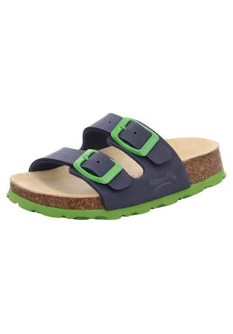 Superfit Pantolette »Fußbettpantolette«, mit kontrastfarbenen Schnallen zum verstellen kaufen