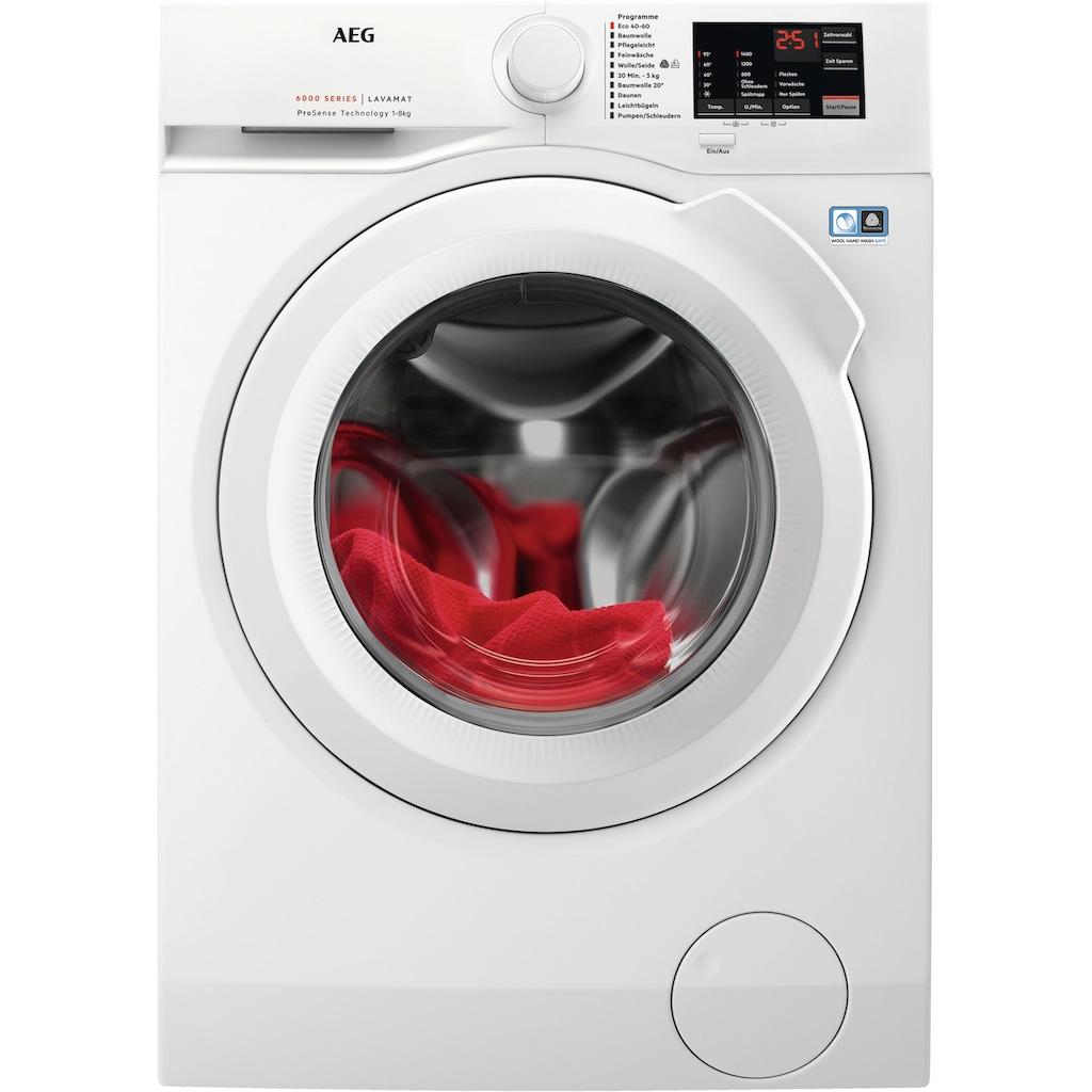 AEG Waschmaschine »L6FB48FL«, L6FB48FL, ProSense - Mengenautomatik