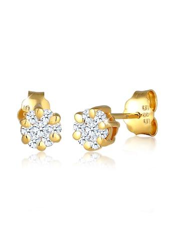 Diamore Paar Ohrstecker »Blume Diamant (0.24 ct.) 585 Gelbgold« kaufen