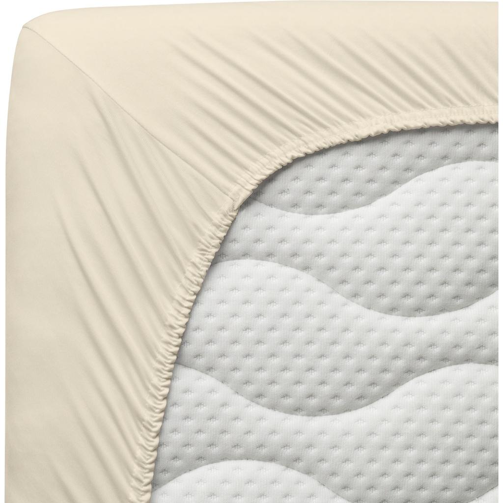 Schlafgut Spannbettlaken »Microfaser-Feininterlock«, aus reiner Microfaser