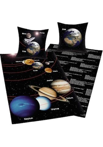 Herding Young Collection Wendebettwäsche »Sonnensystem«, mit Infotexten kaufen