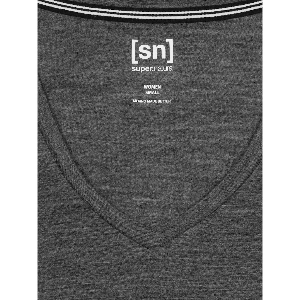 SUPER.NATURAL T-Shirt »W TRAVEL TEE«, funktioneller Merino-Materialmix