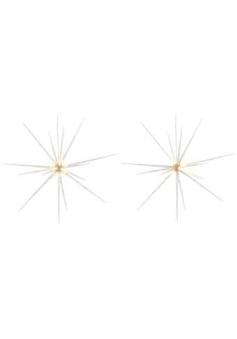 BONETTI LED Stern, 2 St., Warmweiß, Ø ca. 51 cm je Stern, mit 8 verschiedenen... kaufen
