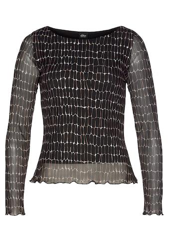 s.Oliver BLACK LABEL Langarmshirt, aus zartem Mesh kaufen