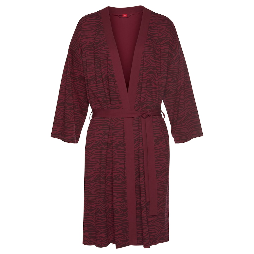 s.Oliver Bodywear Kimono, aus weich fließendem Baumwollmix