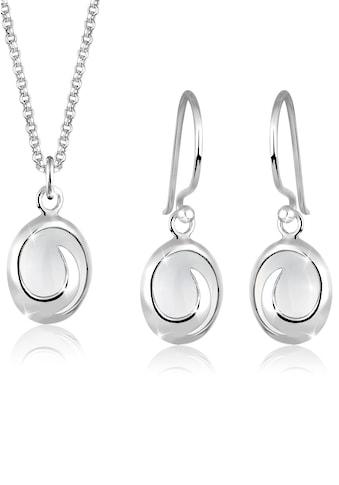 Elli Schmuckset »Ohrhänger und Anhänger Mondstein 925 Silber« kaufen