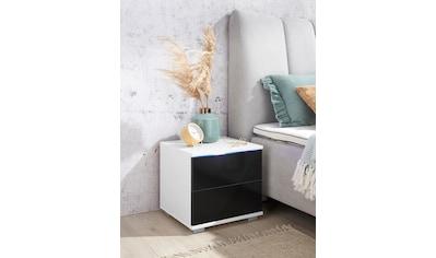 priess Nachtkommode, mit LED-Beleuchtung und Push-to-open kaufen