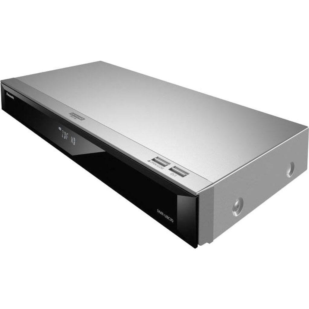 Panasonic Blu-ray-Rekorder »DMR-UBC70«, 4k Ultra HD, WLAN-LAN (Ethernet), 4K Upscaling, 500 GB Festplatte, für DVB-C und DVB-T2 HD Empfang