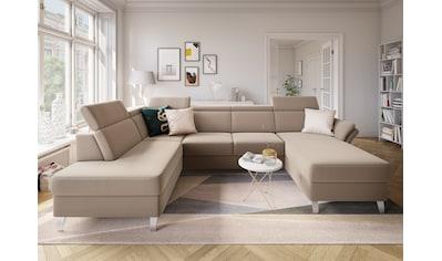 sit&more Wohnlandschaft, inklusive Kopfteilverstellung, wahlweise mit Bettfunktion und... kaufen
