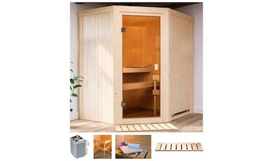 Karibu Sauna »Fedder«, 4,5 kW Ofen mit int. Strg. kaufen