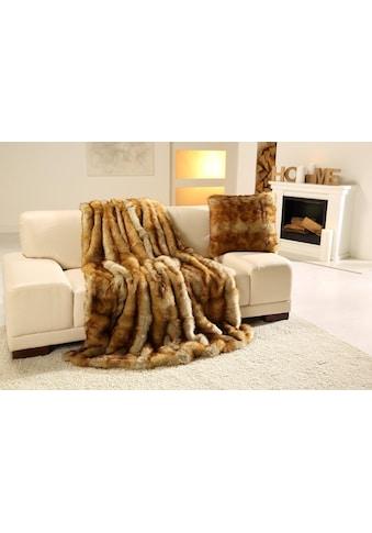 Gözze Wohndecke »Fuchs Felloptik«, besonders wärmend kaufen