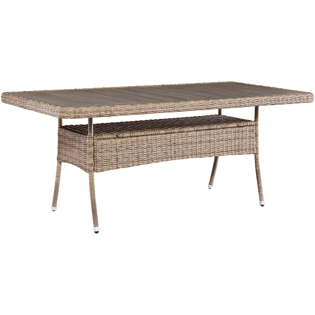 MERXX Gartenmöbelset »Seattle«, (9 tlg.), 6 Sessel, 2 Hocker mit Tisch