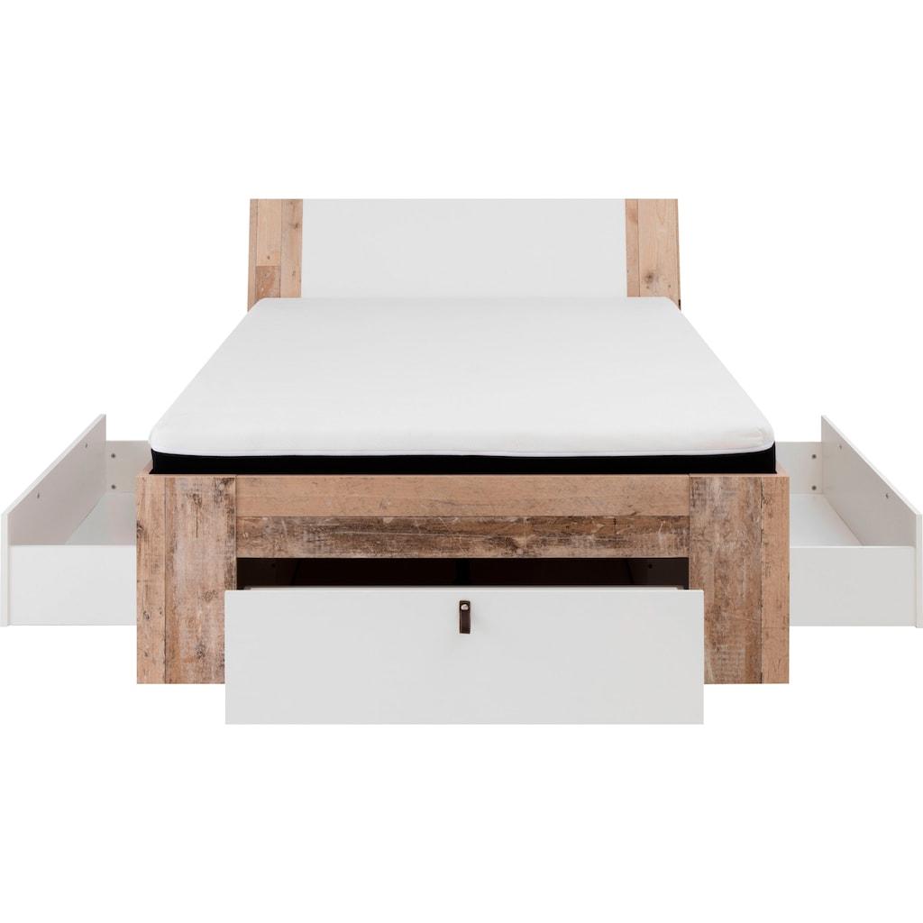 Schlafkontor Bett, mit viel Stauraum