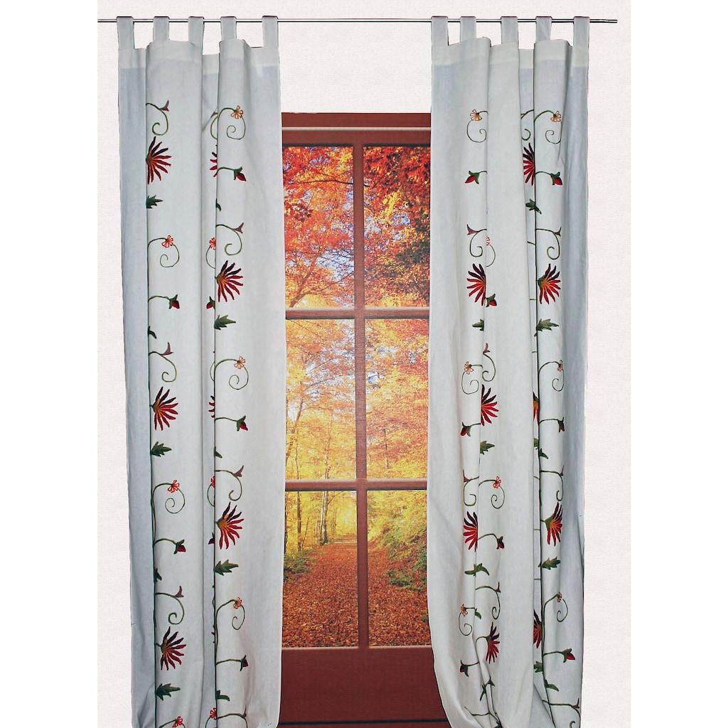 HOSSNER - ART OF HOME DECO Vorhang »Fuschlsee«, floraler Shabby-Chic