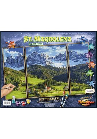 Schipper Malen nach Zahlen »Meisterklasse Triptychon, St. Magdalena in Südtirol«, Made... kaufen