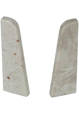 EGGER Endstücke »Stein weiss«, für 6 cm Sockelleiste kaufen