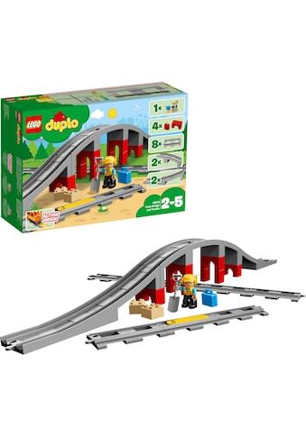 """LEGO® Konstruktionsspielsteine """"Eisenbahnbrücke und Schienen (10872), LEGO® DUPLO® Town"""", Kunststoff, (26 - tlg.) kaufen"""
