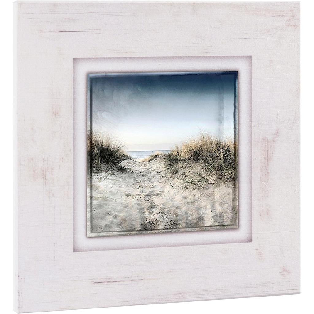 Home affaire Holzbild »Sand und Himmel«, 40/40 cm
