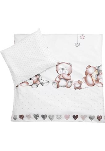 Julius Zöllner Kinderbettwäsche »Schmusebär«, mit Teddybären kaufen