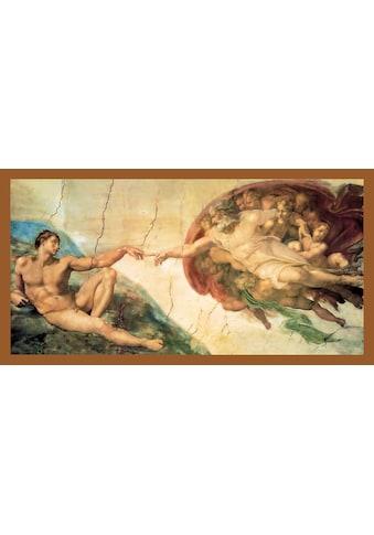 my home Bild mit Rahmen »MICHELANGELO / Erschaffung Adams«, (1 St.) kaufen