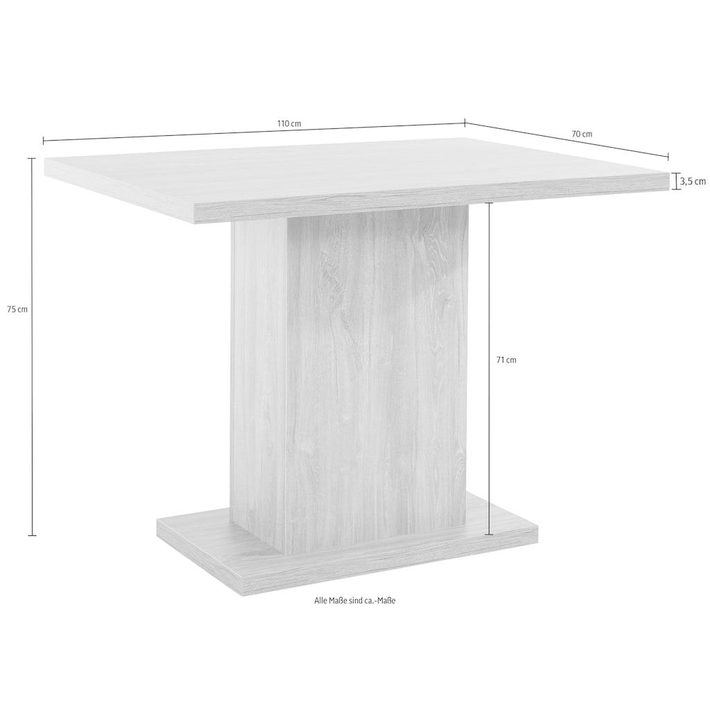Home affaire Säulen-Esstisch »Zelle«, Breite 110 cm