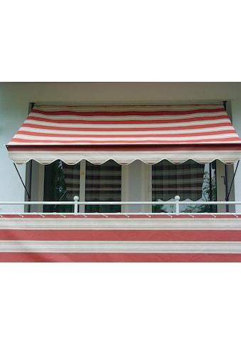 Angerer Freizeitmöbel Balkonsichtschutz »Nr. 9300«, Meterware, rot/beige, H: 75 cm kaufen
