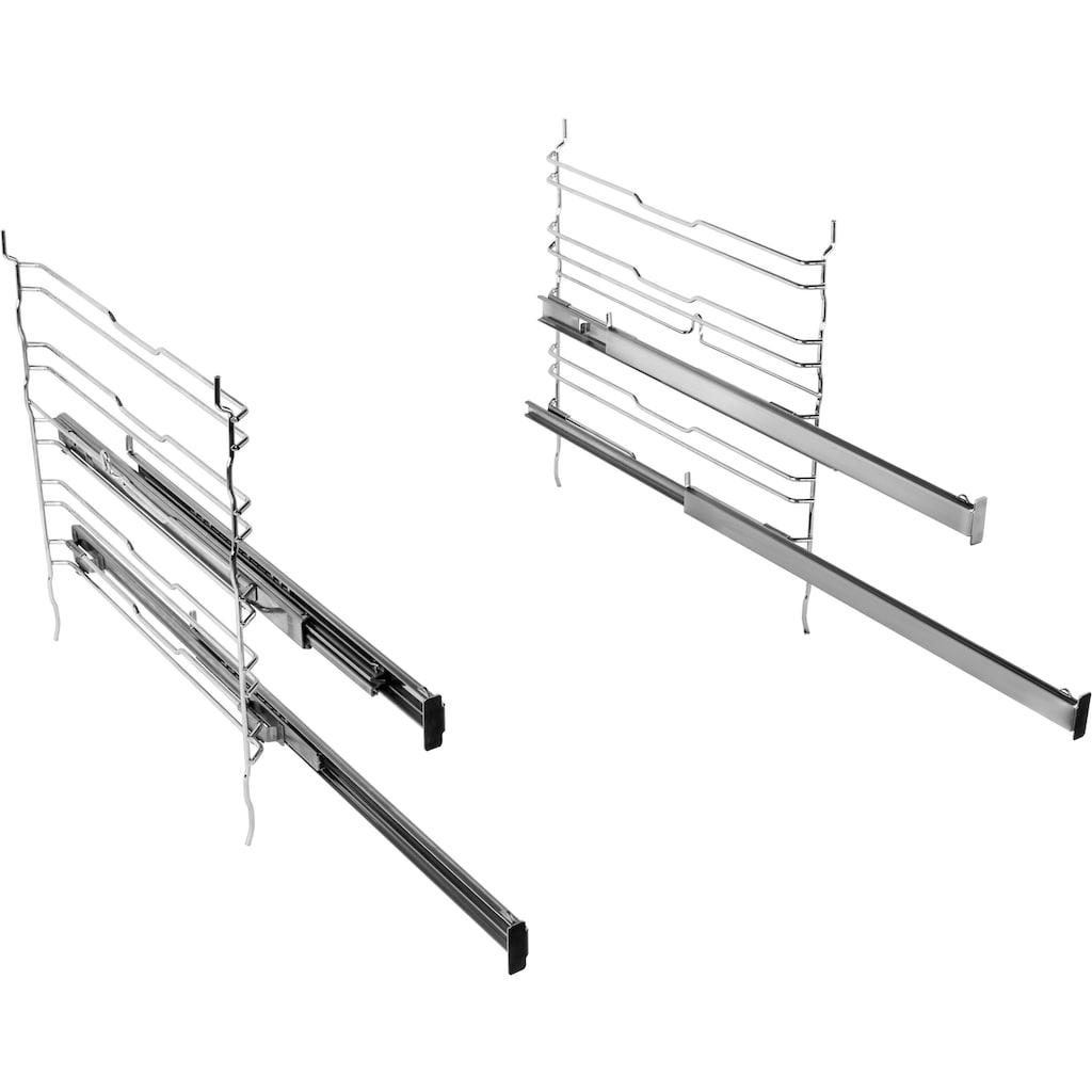 BAUKNECHT Backofen »BIR4 DH8F2 PT«, BIR4 DH8F2 PT, mit 2-fach-Teleskopauszug, Hydrolyse, mit Pizzastufe