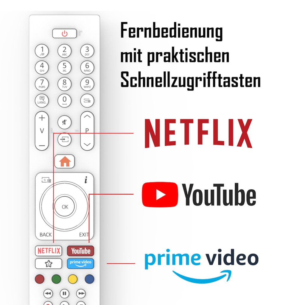 "Telefunken LED-Fernseher »XH32J511D-W«, 80 cm/32 "", HD-ready, Smart-TV"