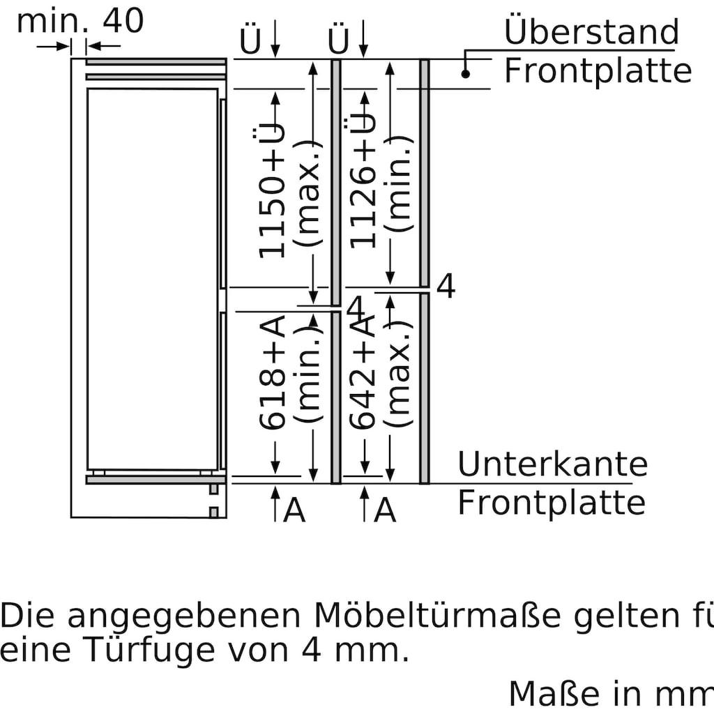 SIEMENS Einbaukühlgefrierkombination »KI87SADD0«, iQ500
