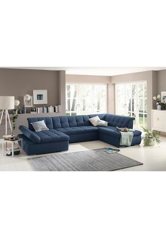 Home affaire Wohnlandschaft »Belle«, wahlweise mit Bettfunktion, Recamieren- und... kaufen