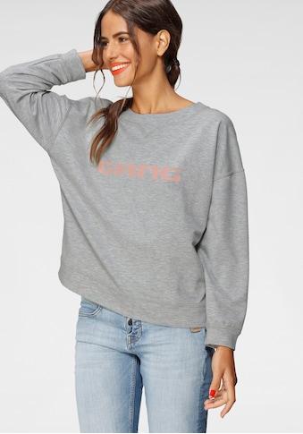 GANG Sweatshirt »Sandy«, Rundhalsshirt mit Logodruck vorne kaufen