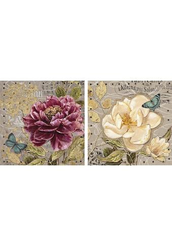 DELAVITA Kunstdruck »Butterflies I / II«, (Set, 2 St.) kaufen