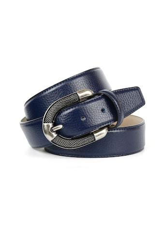 Anthoni Crown Ledergürtel, mit aufwendiger silberfarbener Schmuck-Schließe kaufen