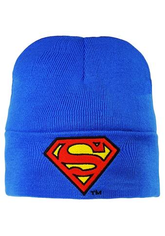 LOGOSHIRT Strickmütze mit coolem Motiv »Superman – Logo« kaufen