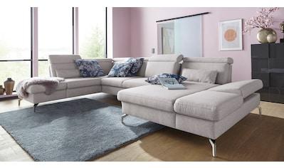 sit&more Wohnlandschaft, Fußhöhe 15 cm, inklusive Sitztiefen-, Armteil- und... kaufen
