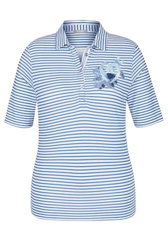 Rabe Polo - Shirt mit Ringeln und Brust - Print kaufen