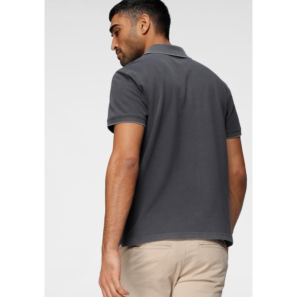 H.I.S Poloshirt, in gewaschener Optik