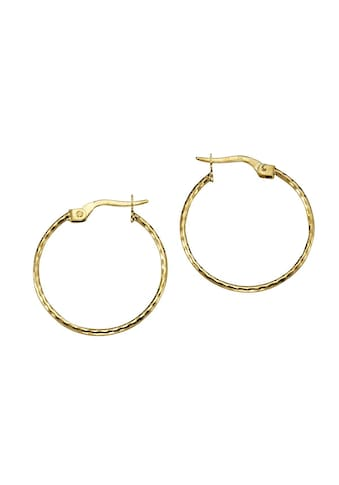 Vivance Creolen »375/ -  Gold diamantiert 2,3cm« kaufen