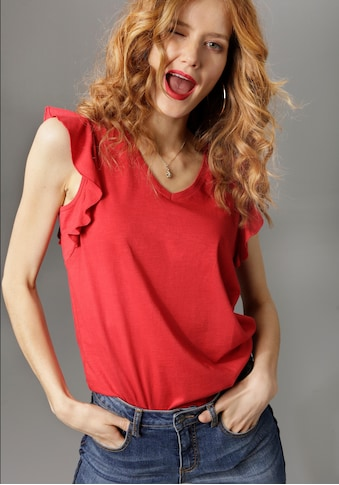 Aniston CASUAL T-Shirt, mit Bindeband im Rücken kaufen