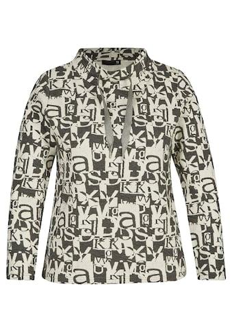 Thomas Rabe Langarmshirt, mit Stehkragen und Allover-Muster kaufen