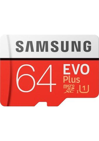 Samsung Speicherkarte »Auf Geschwindigkeit optimierte microSD«, ( 100 MB/s Lesegeschwindigkeit), EVO Plus 2020 microSD+Adapter kaufen